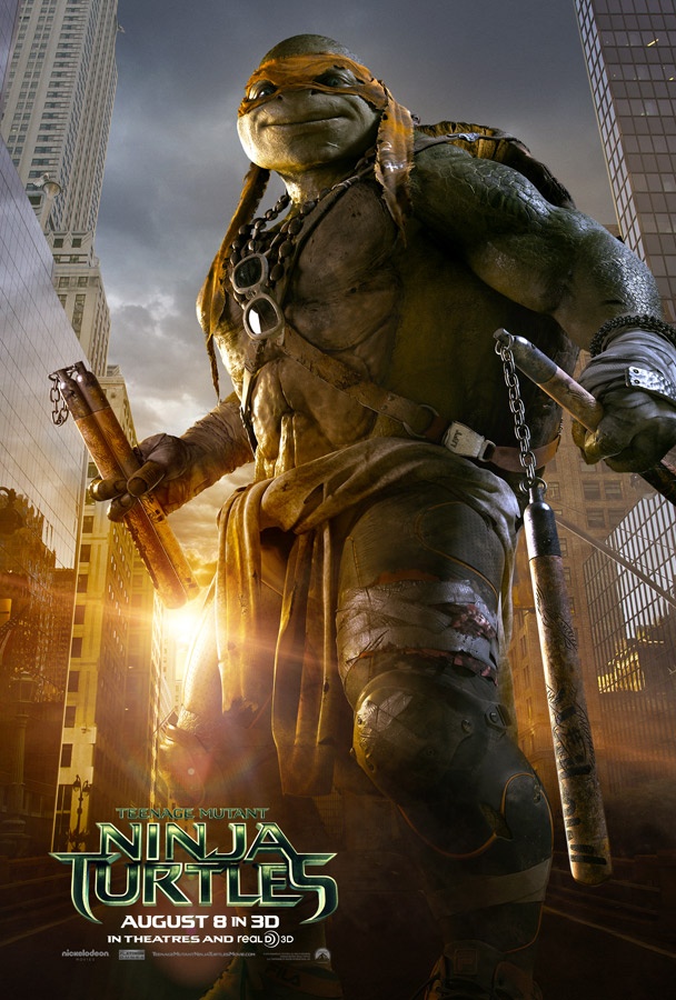 Teenage Mutant Ninja Turtles Michangelo Poster Teenage Mutant Ninja Turtle Character Posters Reveal New Trailer
