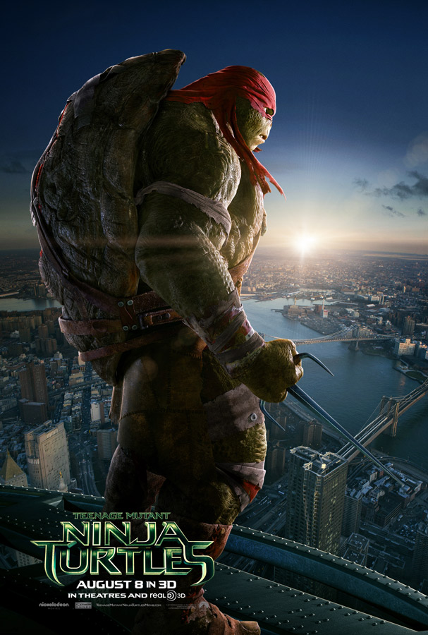 Teenage Mutant Ninja Turtles Raphel Poster Teenage Mutant Ninja Turtle Character Posters Reveal New Trailer