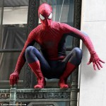 The Amazing Spider Man 2 Stuntman 150x150 Emma Stone and Andrew Garfield on The Amazing Spider Man 2 Set Video and Stills