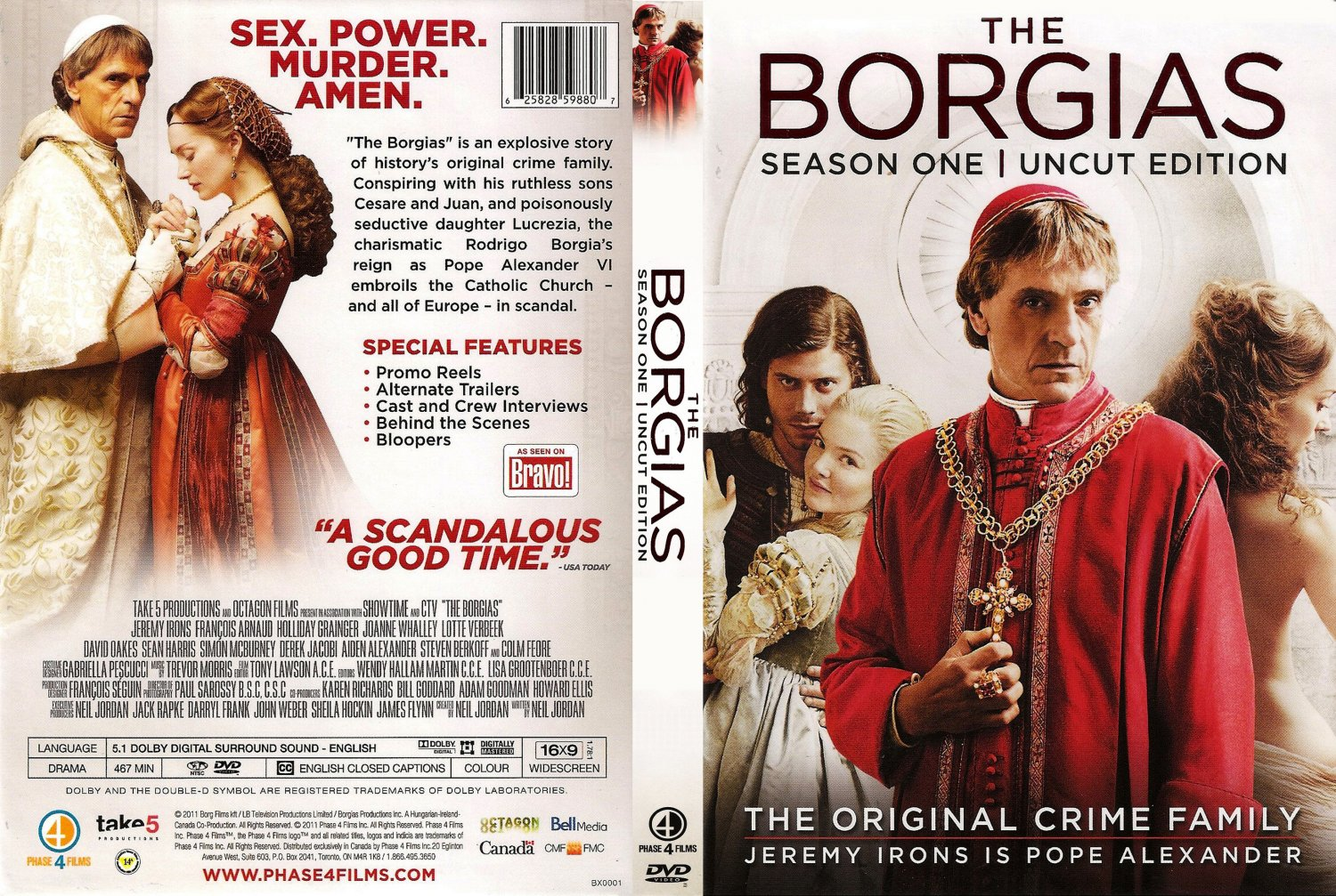 The Borgias The Final Season DVD