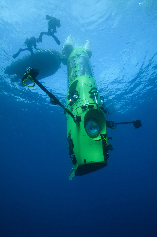 The DEEPSEA CHALLENGER submersible James Camerons DeepSea Challenge 3D Plunges Into Theatrical Release
