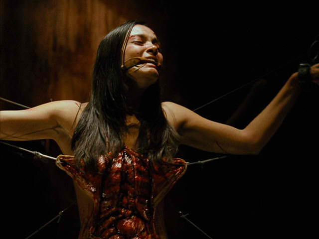 The Evil Dead Girl Skinned Bloody First TV Spot from The Evil Dead Arrives