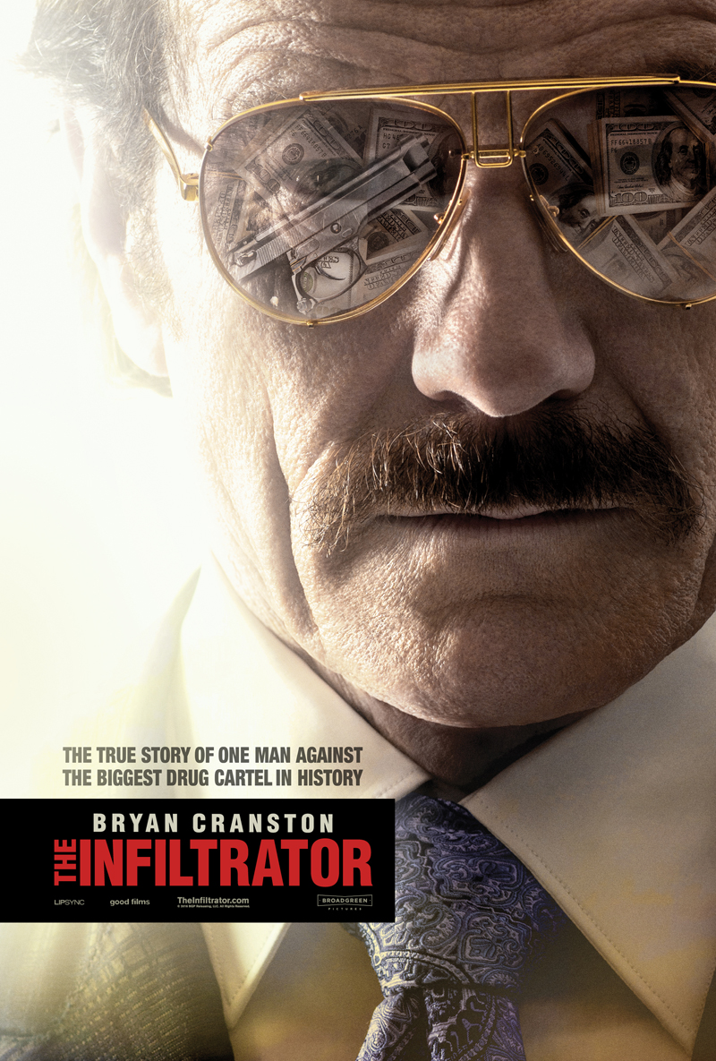 The Infiltrator's Book and Signed Poster Giveaway Shows Bryan Cranston Going Undercover In the Drug World