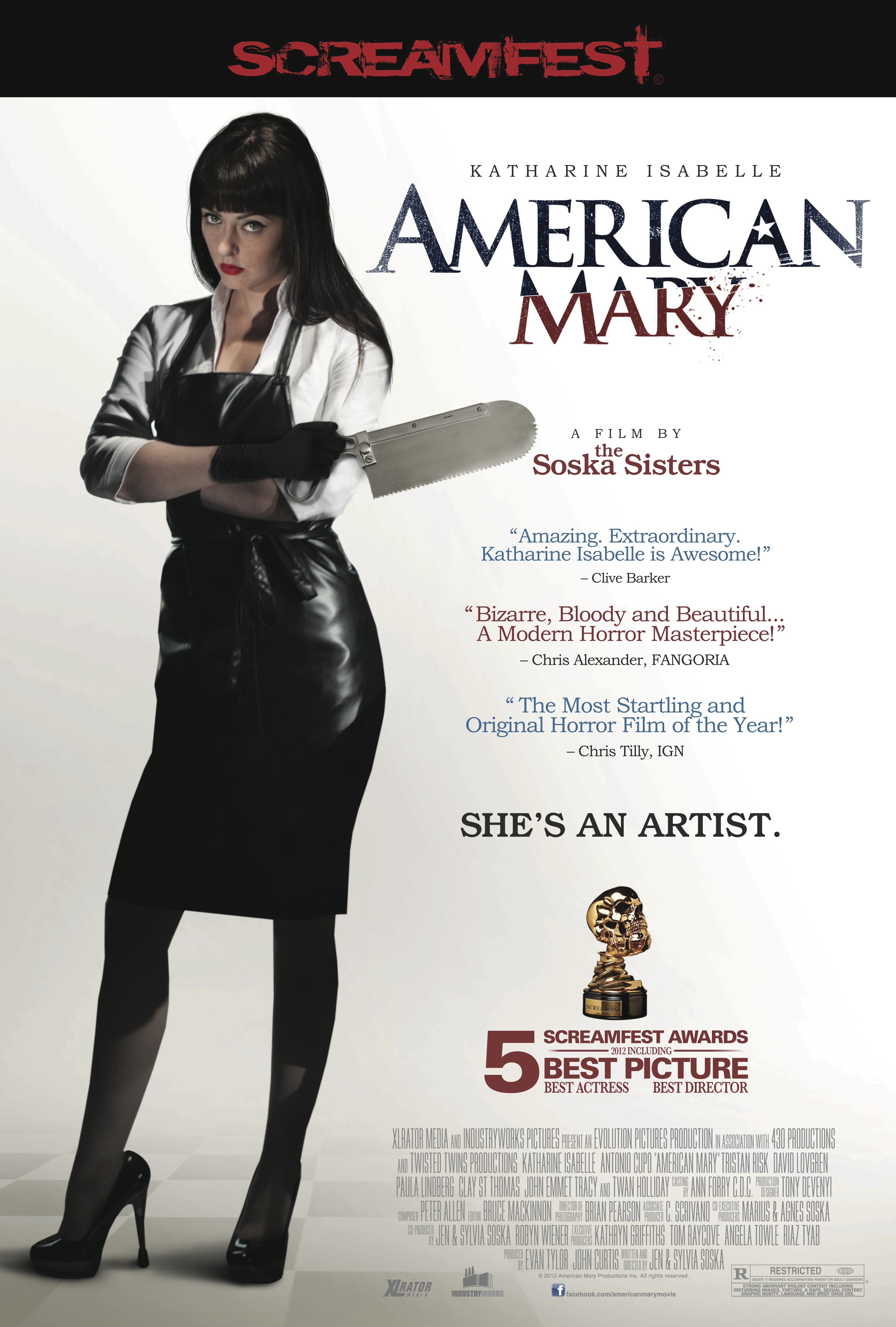 The Soska Sisters Stirring Up Scares in New American Mary Key Art The Soska Sisters Stirring Up Scares in New American Mary Key Art
