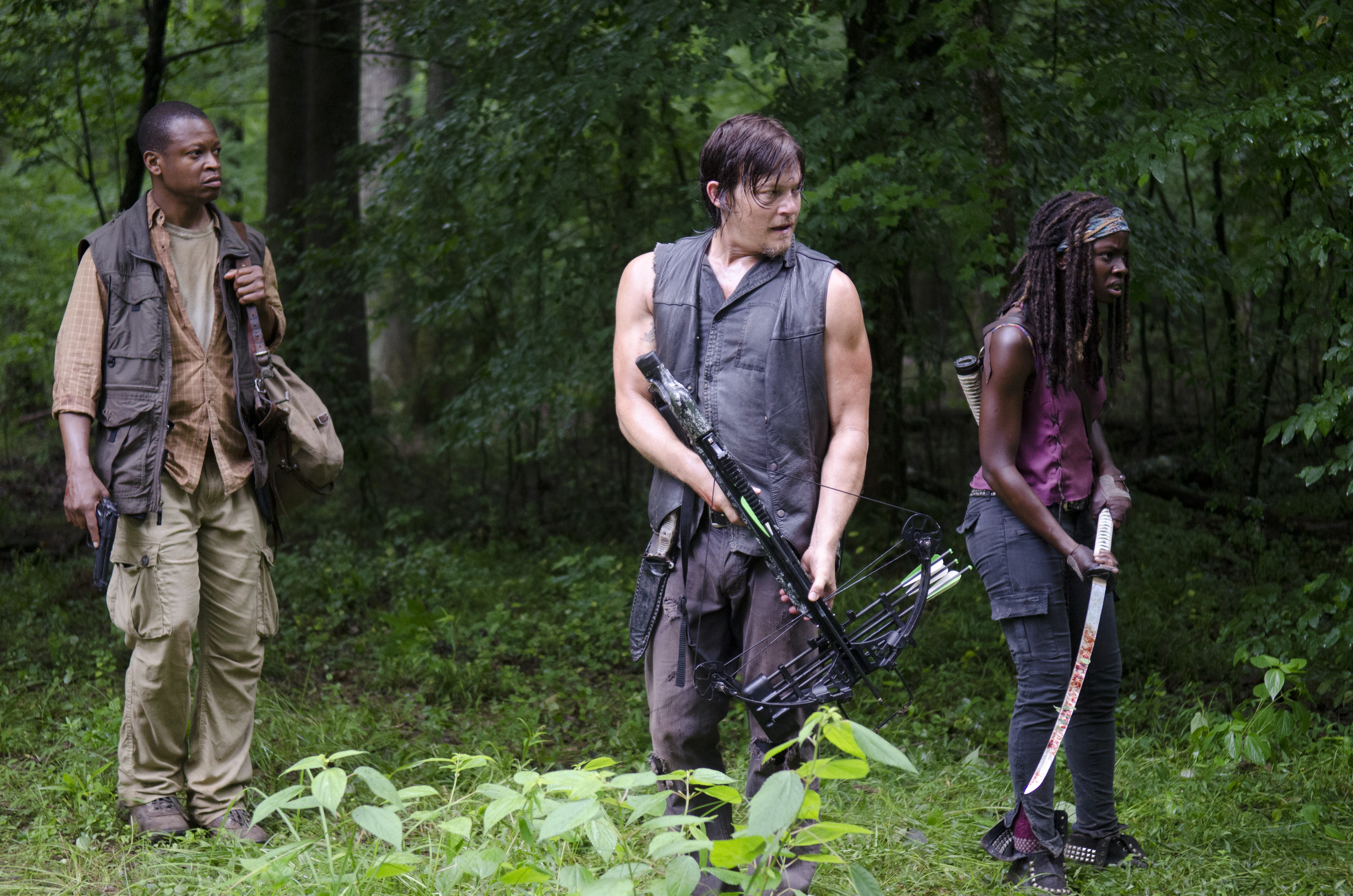 The Walking Dead Bob Daryl Michonne Exclusive: Cool Images From The Walking Deads Upcoming Episode, Isolation, Now Live