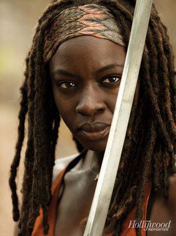 The Walking Dead Season 4 Michonne First Look at Michonne from The Walking Dead Season 4