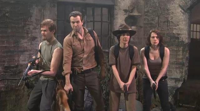 The Walking Dead Spoof on SNL Watch The Saturday Night Live Spoof of The Walking Dead