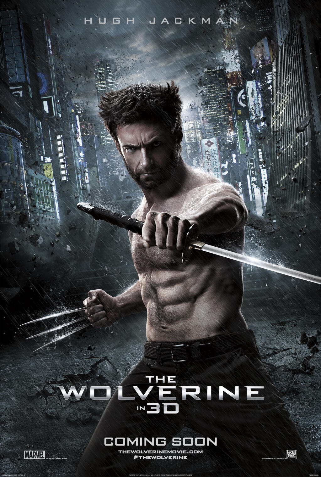 The Wolverine International Movie Poster 2 Domestic And International Trailers For The Wolverine Released
