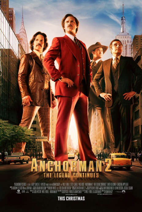 The World is Watching with New Anchorman 2 The Legend Continues Poster The World is Watching with New Anchorman 2: The Legend Continues Poster