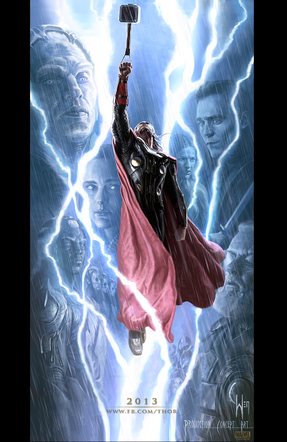 Thor The Dark World Concept Poster New Concept Poster from Thor: The Dark World Released