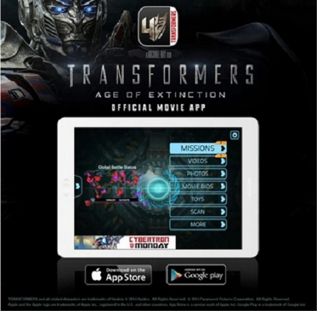 Transformers Age Of Extinction App Prepare for Transformers: Age of Extinction with Cool Movie App