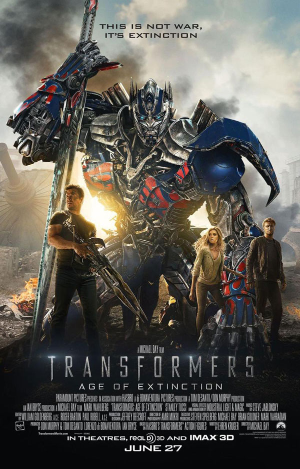 Transformers Age of Extinction Poster Transformers: Age of Extinction Movie Review