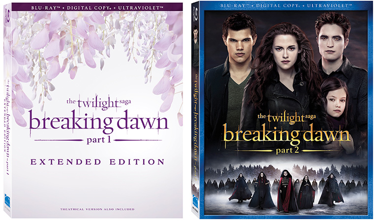 Twilight Breaking Dawn Part 1 Extended Edition Part 2 The Twilight Saga: Breaking Dawn Part 1 Extended Edition And Part 2 Coming To DVD And Blu ray March 2