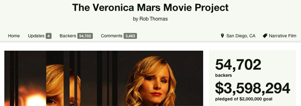 Veronica Mars Movie on Kickstarter Movie News Cheat Sheet: Big Money On Kickstarter And Cheap Thrills At SXSW