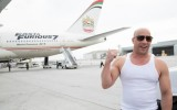 Vin Diesel Welcomes Newly-Decaled Furious 7 Plane at LAX