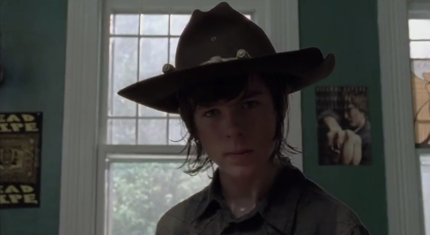 Walking Dead Carl Drawing Inspiration DVD New Clip From The Walking Dead: The Complete Fourth Season Details Carls Journey to Maturity