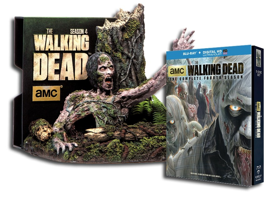 Walking Dead Tree Walker Blu ray The Walking Dead: The Complete Fourth Season Coming to DVD and Blu ray This August