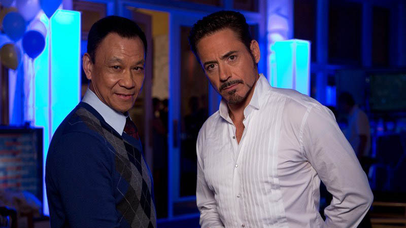 Wang Xuequi and Robert Downey Jr on Iron Man 3 Happy Chinese New Year From Robert Downey Jr. and Wang Xuequi from Iron Man 3