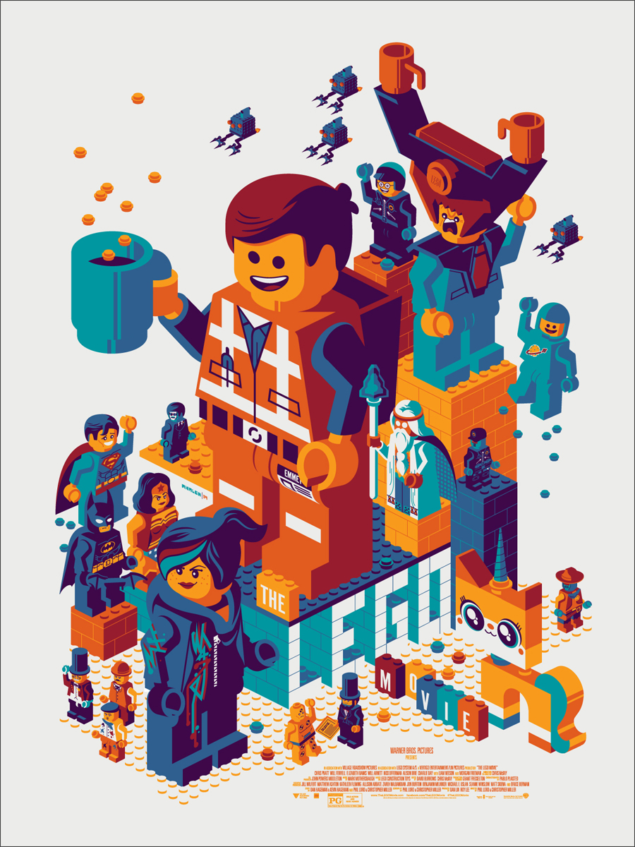 Whalen LegoMovie press The LEGO® Movie Mondo Poster Sells Out In One Hour