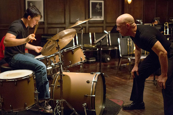 Miles Teller & JK Simmons in Whiplash