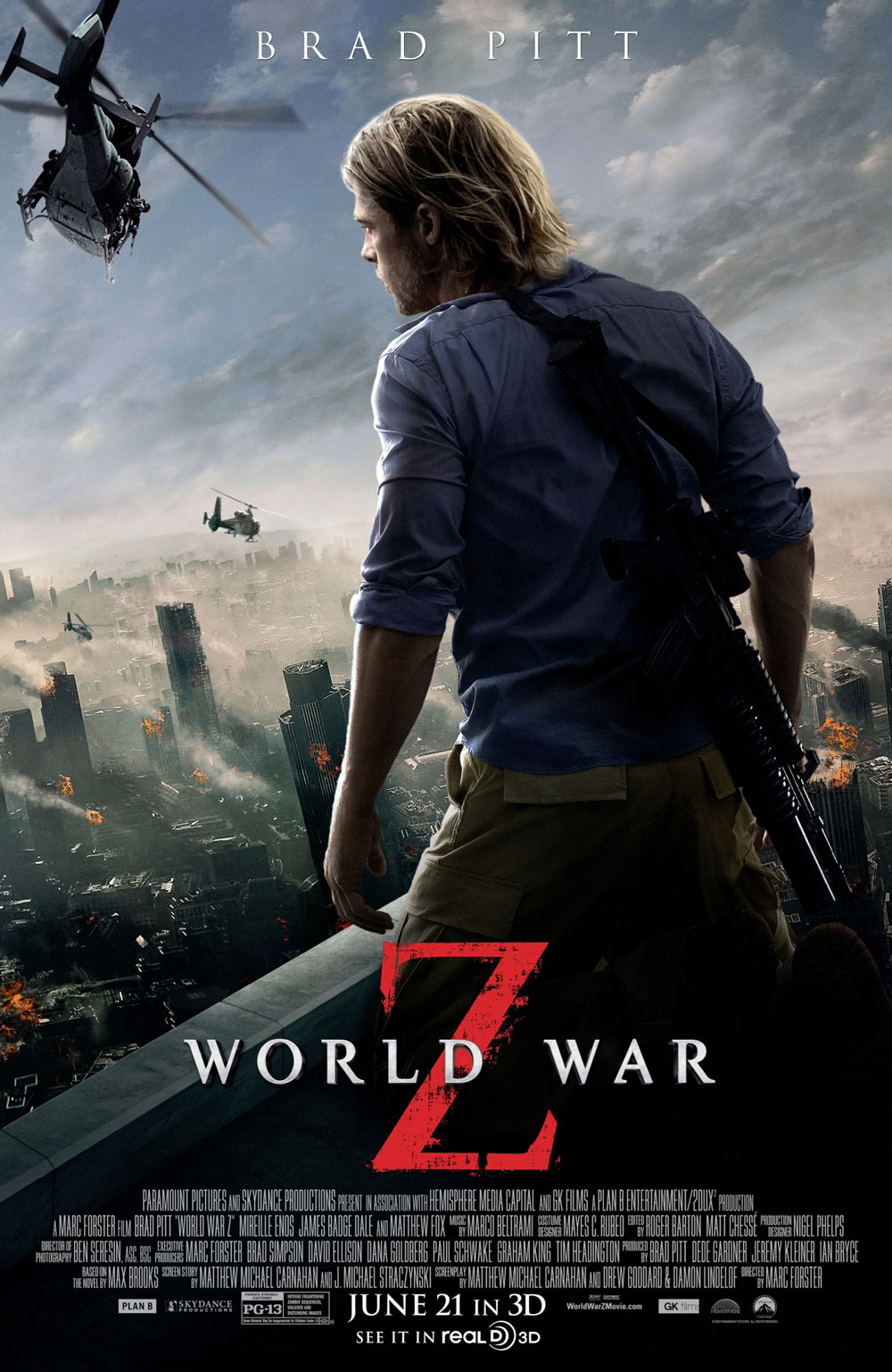 Extra Large Movie Poster Image for World War Z