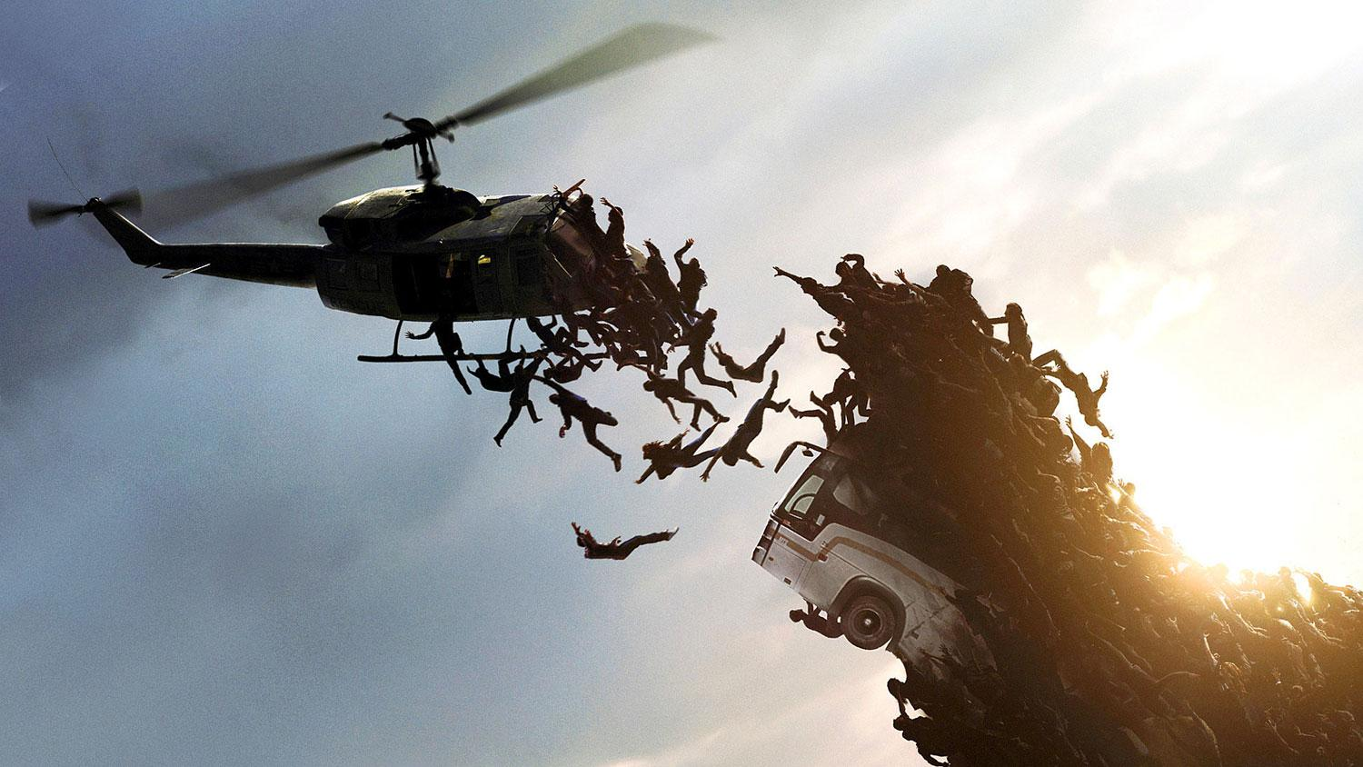 World War Z Movie Clip Helicopter Attack Wicked New Clip from World War Z Arrives