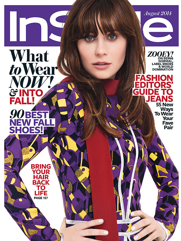 Zooey Deschanel InStyle Magazine Zooey Deschanel Discusses Snobbish Actresses