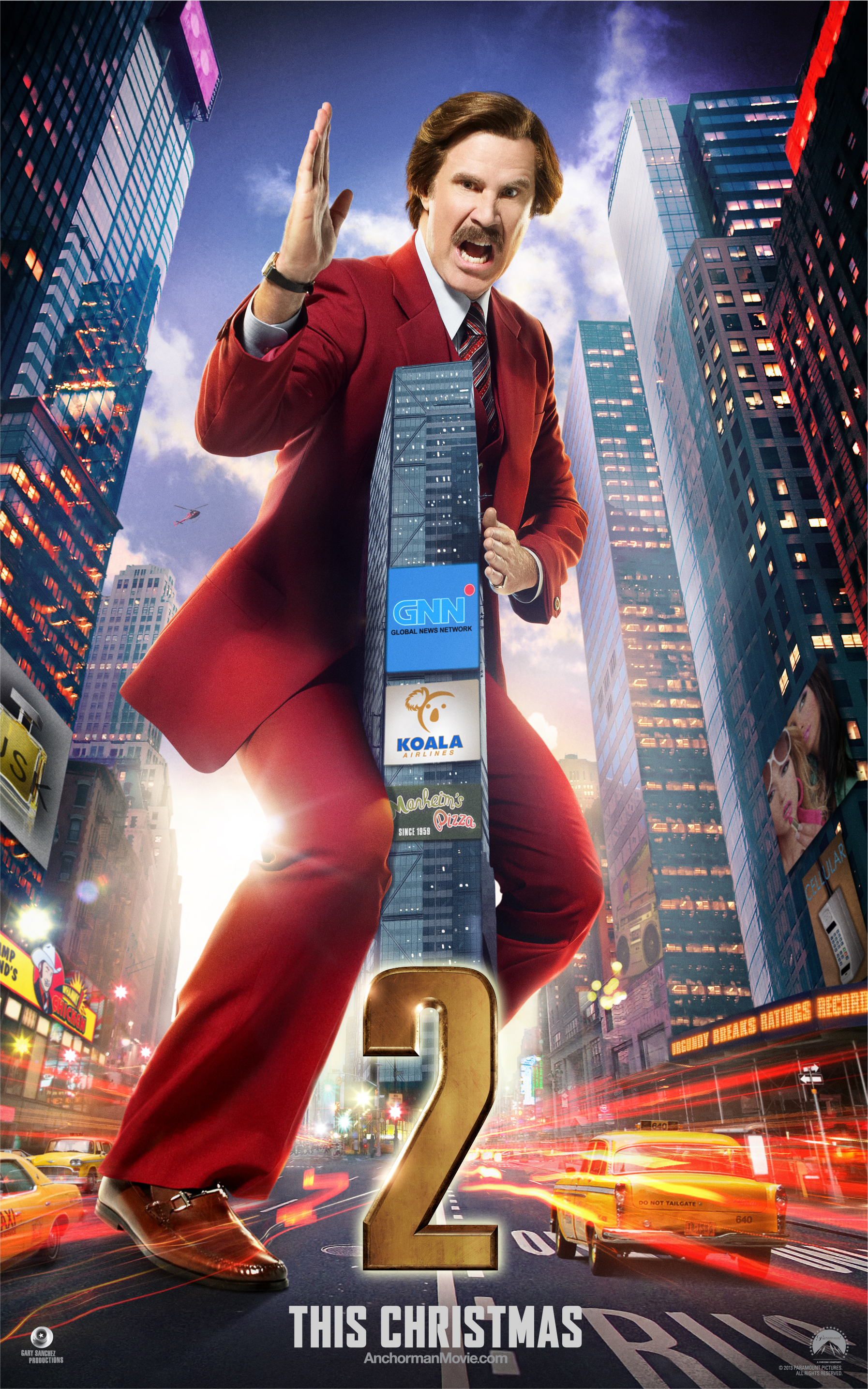 Anchorman 2: The Legend Continues Builds Legacy with Ron Burgundy Character Poster