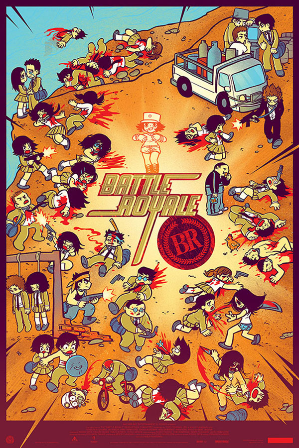 battle royale bryan lee omalley kevin tong mondo Tugg And Mondo Brings Battle Royale Back To Theaters, New Poster Celebrates Return