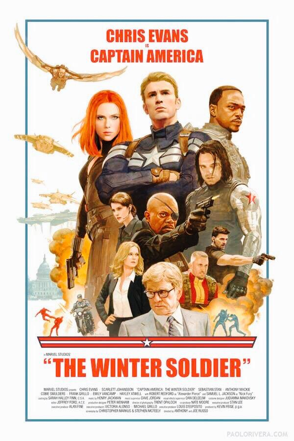 captain america the winter soldier old school poster Captain America: The Winter Soldier Gets An Old School Movie Poster