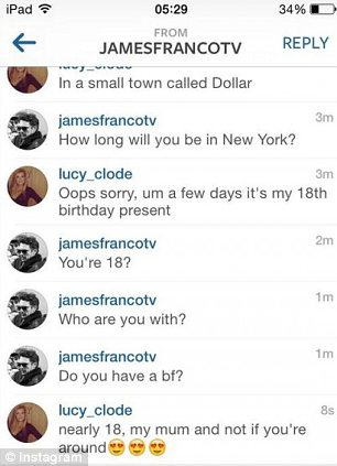 convo2 James Franco reportedly chats with British fan on Instagram   but is it genuine?