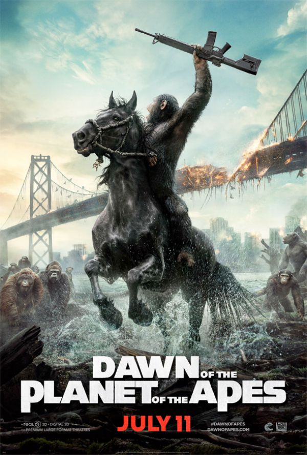 dawn of the planet of the apes movie poster Dawn of the Planet of the Apes Gets A New Movie Poster
