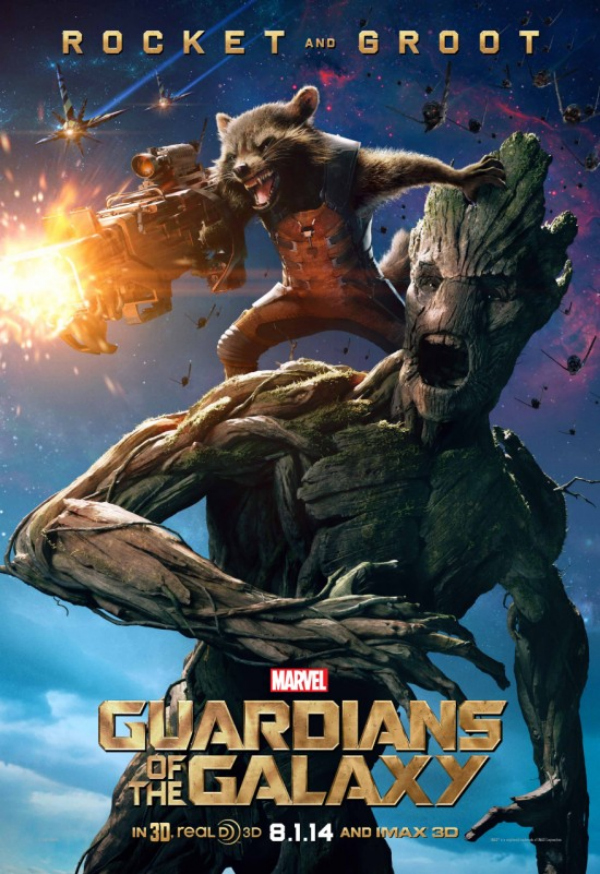 gaurdians of the galaxy rocket raccoon groot character poster.jpg Guardians of the Galaxy Gets A New Character Poster Featuring Rocket Raccoon and Groot