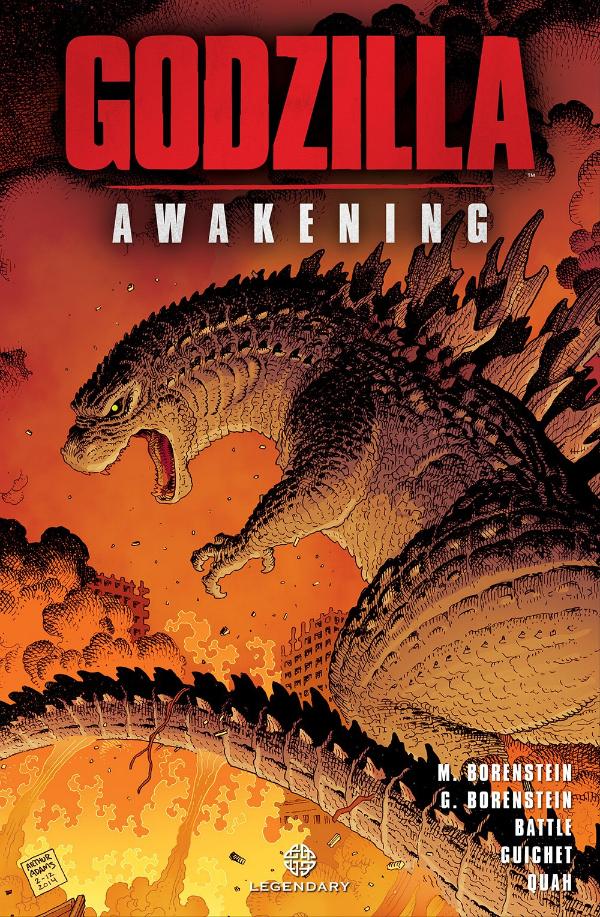 godzilla awakening graphic novel cover art.jpg Godzilla: Awakening Comic Book Review