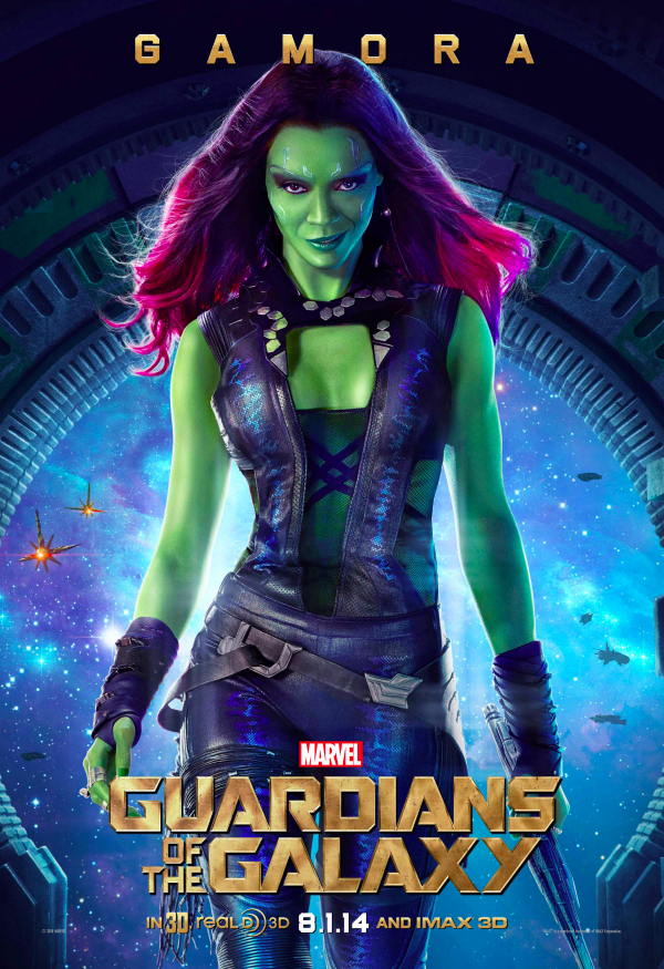 guardians of the galaxy gamora character poster Guardians of the Galaxy Gets A New Character Poster Featuring Gamora