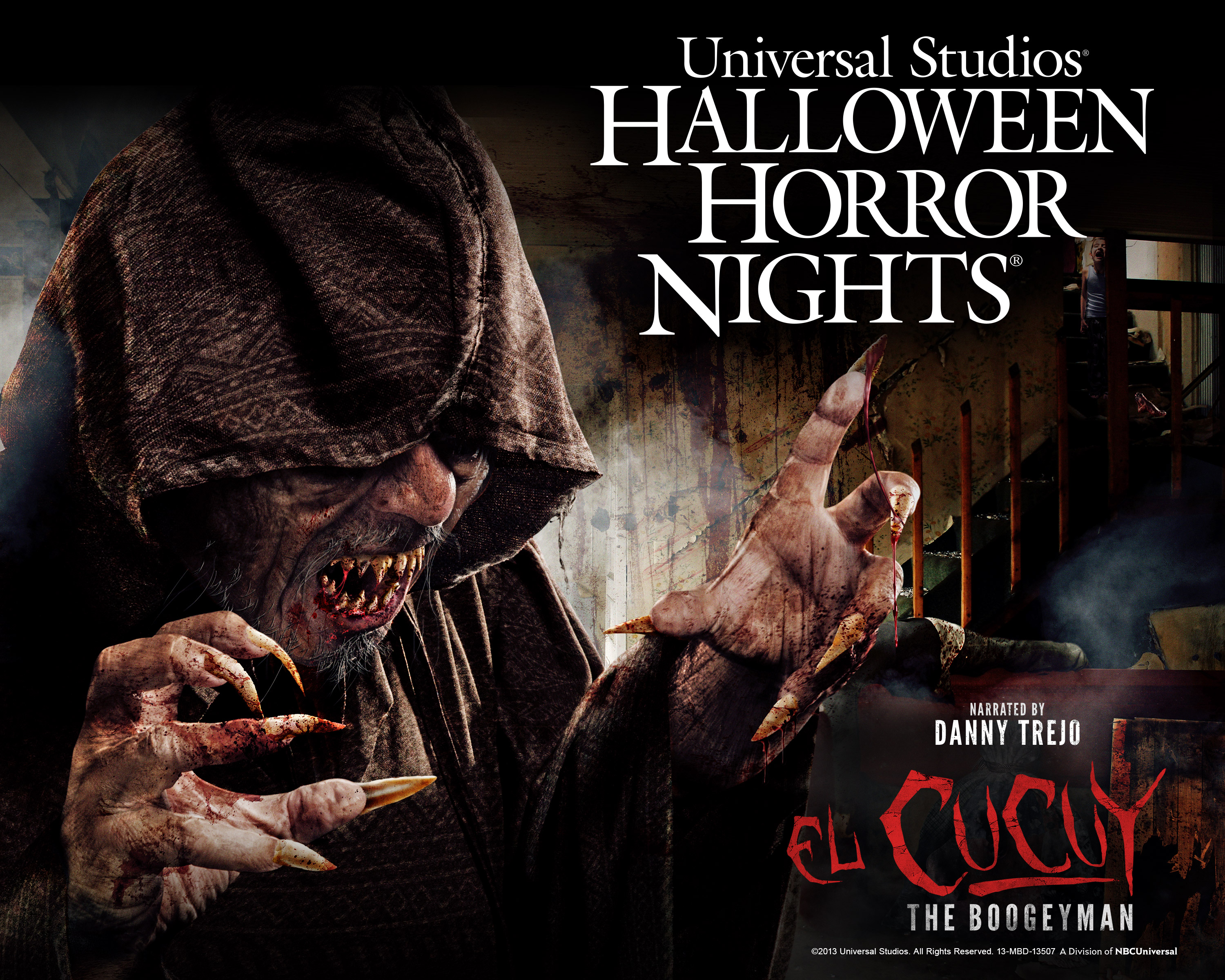 hhn 2013 el cucuy image Danny Trejo Brings The Boogeman to Life at Halloween Horror Nights