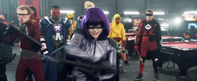 hit girl fighting kick-ass 2