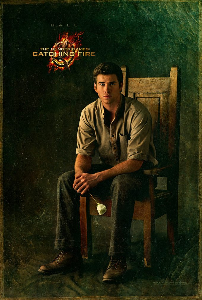 hunger games catching fire gale poster New Catching Fire Posters Featuring Gale and Peeta