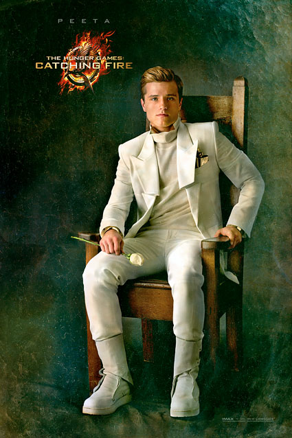 hunger games catching fire peeta poster New Catching Fire Posters Featuring Gale and Peeta