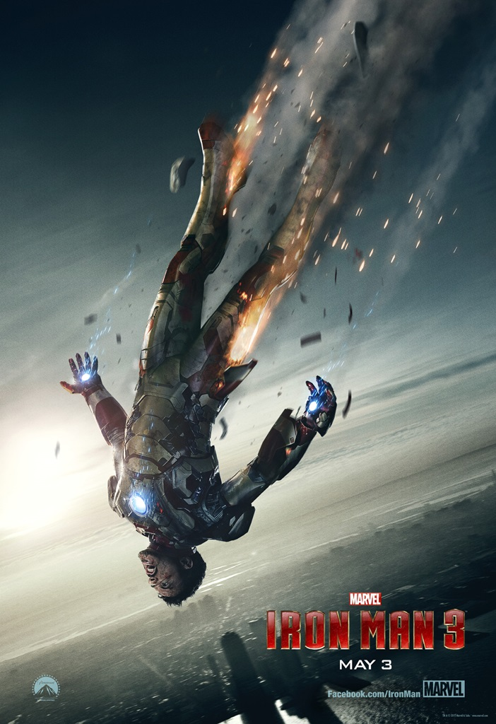 iron man 3 falling poster 1000 New Poster and TV Spot for Iron Man 3 Drops