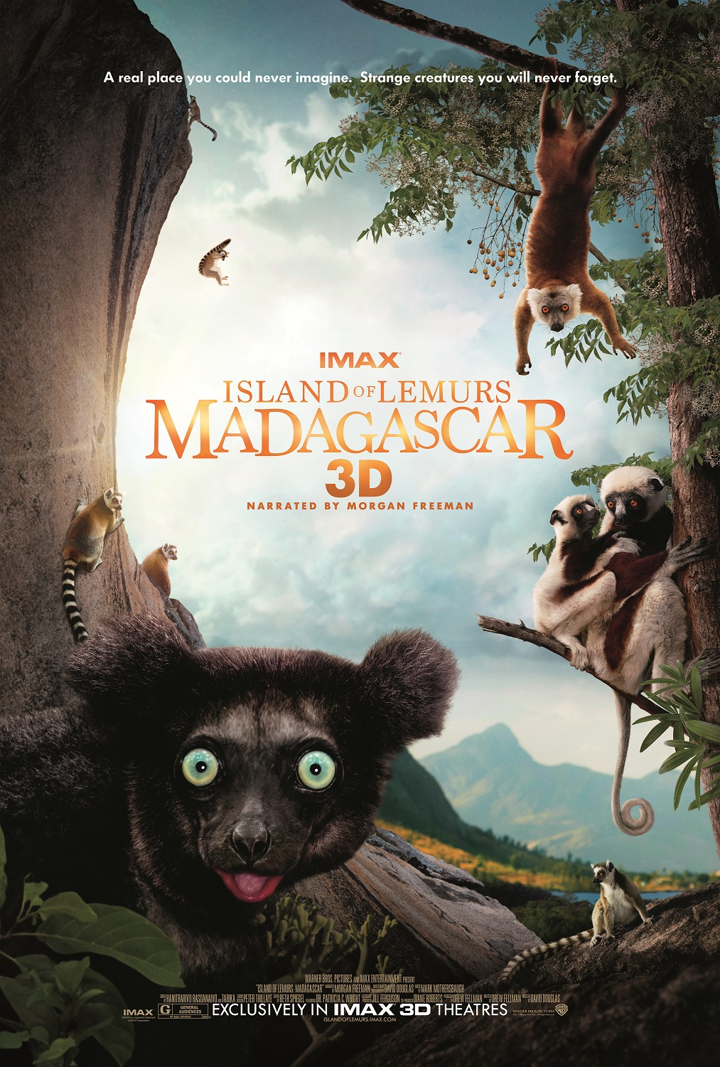 island of lemurs madagascar poster New Behind the Scenes Featurette from Island of Lemurs: Madagascar Shows Tons of Furry, Fun Creatures