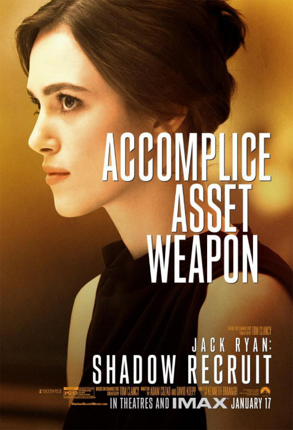 jack ryan shadow recruit kiara knightly cathy ryan Jack Ryan: Shadow Recruit Gets A New Character Poster