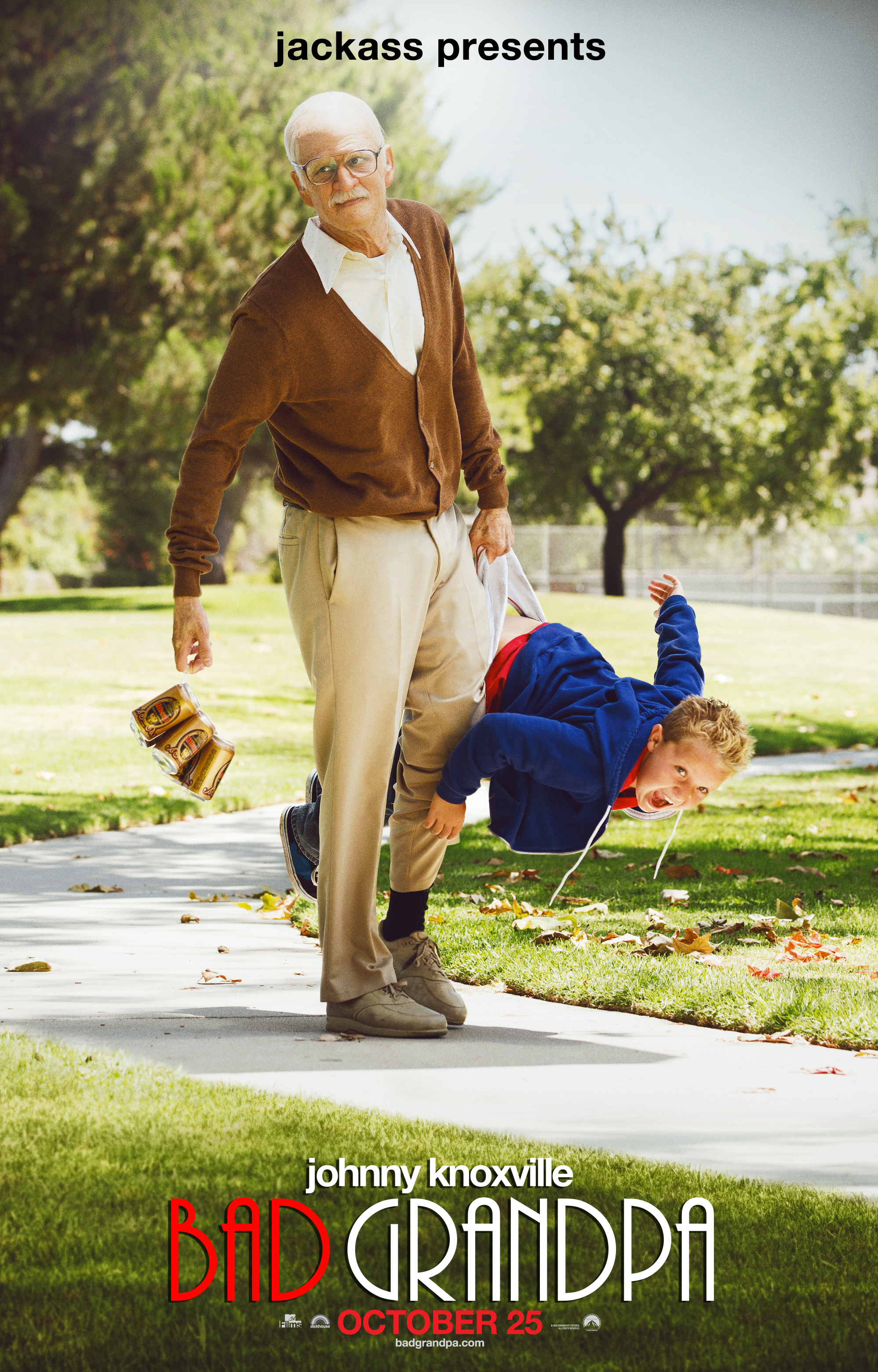 jackassbadgrampateaser New Poster for Jackass Presents: Bad Grandpa Features Johnny Knoxville as Old Man