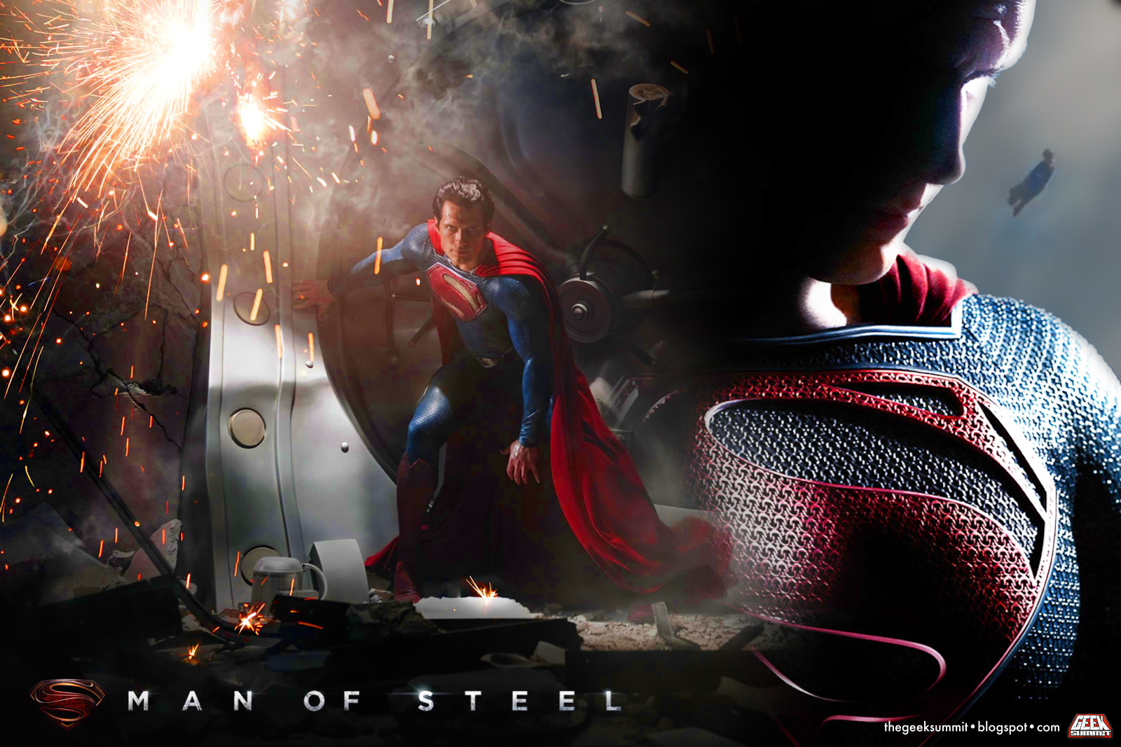 man of steel combo poster Interview: Henry Cavill Talks Superman: Man of Steel