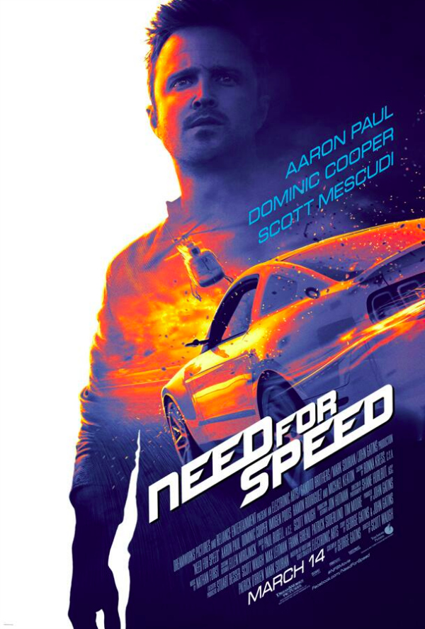 need for speed poster with aaron paul Need For Speed Is In Need Of A New Poster