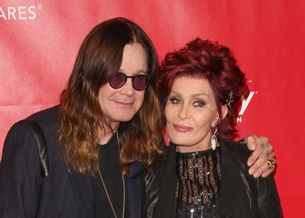 osbournes1 Osbournes expected to spend more time in LA after their UK mansion suffers $500,000 damage in floods