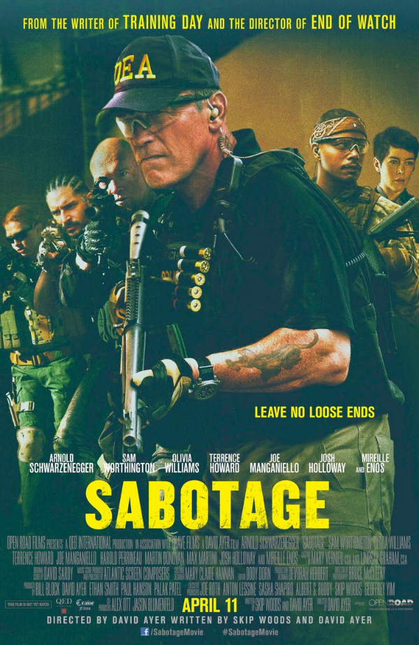 sabotage one sheet Sabotage Gets A New Poster