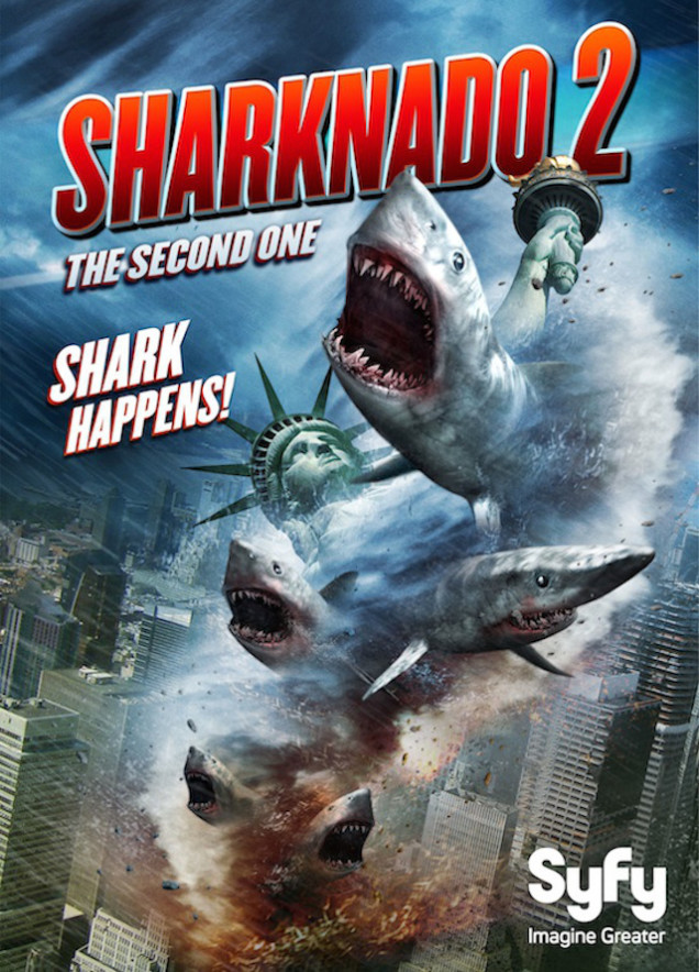 sharknado 2 poster Sharknado 2: The Second One Makes Network and Social Media History