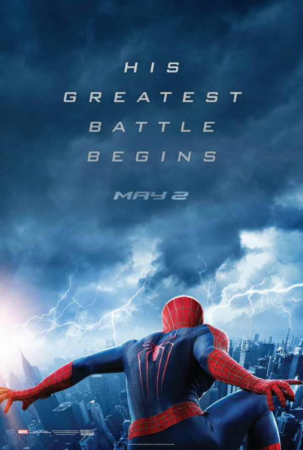 the amazing spider man 2 poster electro The Amazing Spider Man 2 Gets A New Poster That Hints To The Villain Electro