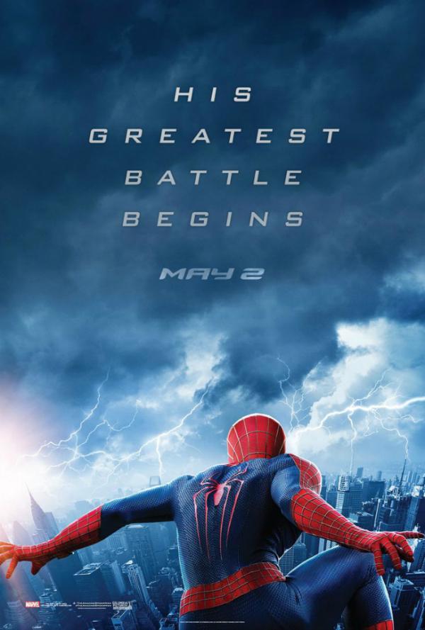the amazing spider man 2 poster electro The Amazing Spider Man 2 Gets A New Poster That Hints To The Villain Electro